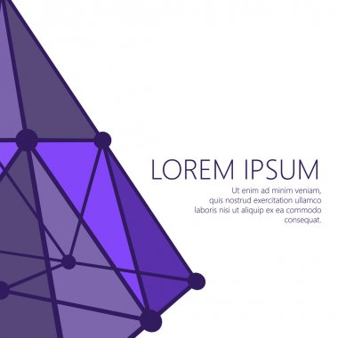 Mesh polygonal background. Scope of lines and dots. Ball of the lines connected to points. Molecular lattice. The structural grid of polygons. Polygonal design style letterhead and brochure.