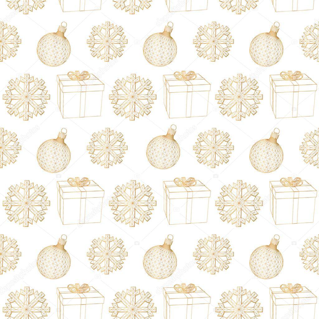 Decorazioni Natalizie Fiocchi Di Neve.Astratto Sfondo Natale Fiocchi Di Neve Decorazioni Natalizie E
