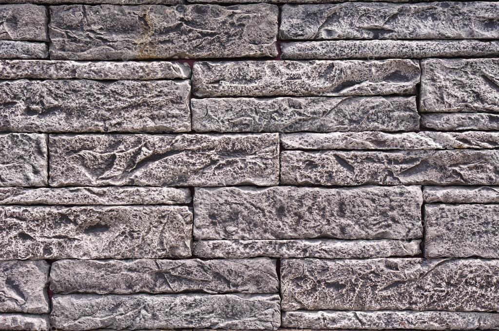 schwarz und wei steinplatten imitation an wand