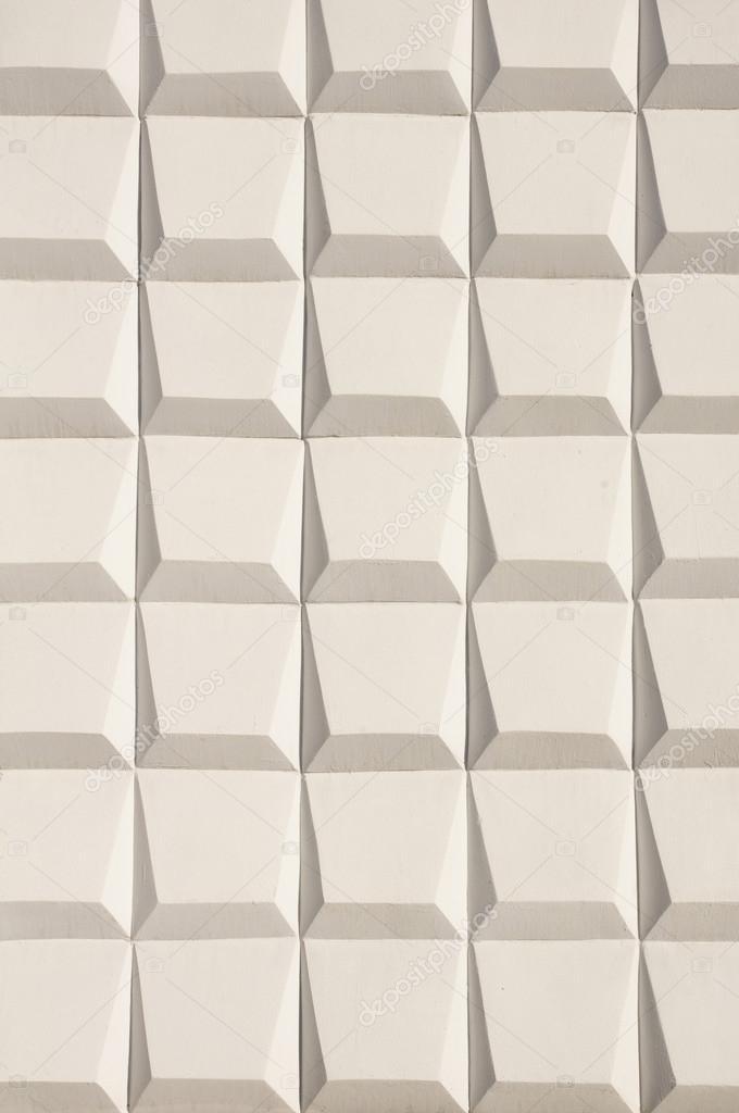 Abstrakt Weiß Dekoration Eine Außenwand Im Sonnigen Da U2014 Foto Von  Isabela1966