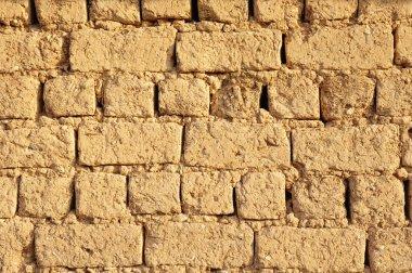 Old adobe wall closeup