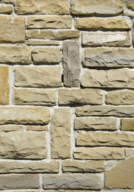 New stone cladding plates on the wal