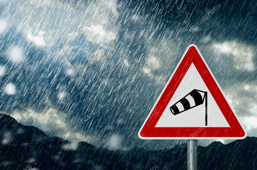 Caution Storm and Rain