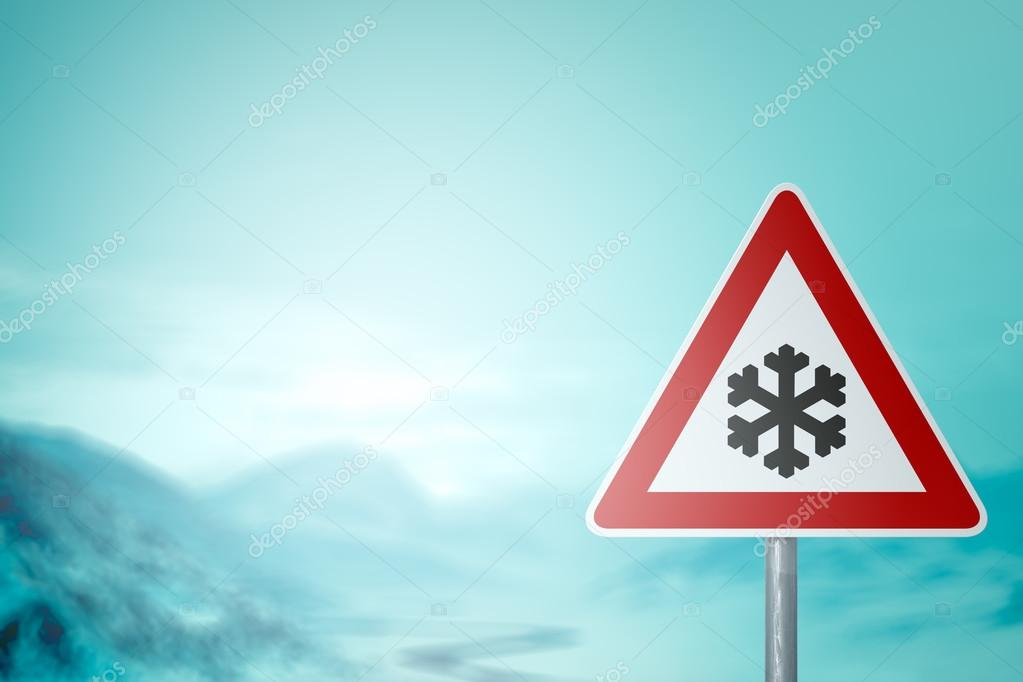 Winter Driving - Caution Snow and Ice