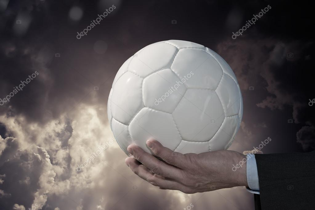 Soccer Ball and Businessman