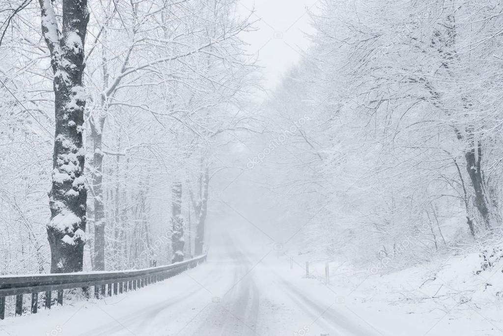 Winter Background - Winter Road