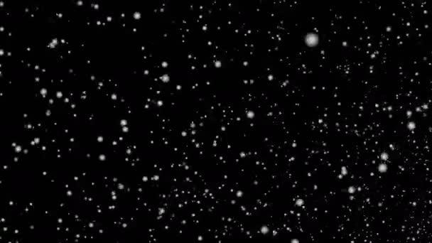 Schneefall - Wirbel - nahtlose Schleife - 4k