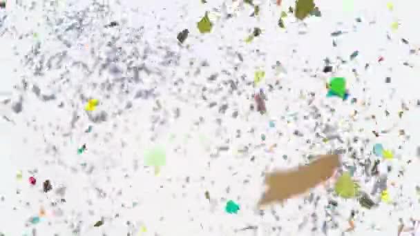 Colorful Confetti Rain - Slow Motion