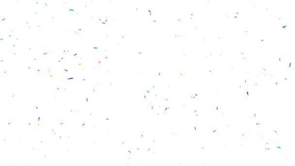 Konfety barevné pozadí videa - Slow Motion - rozostření