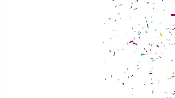 Colorful Confetti Video with Copy Space