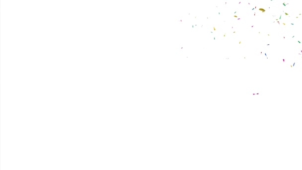 Colorful Confetti Video Background with Copy Space