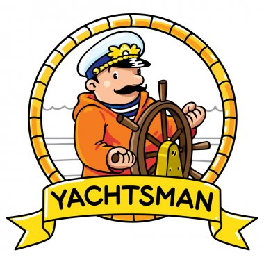 Funny captain or yachtsman. Profession ABC series