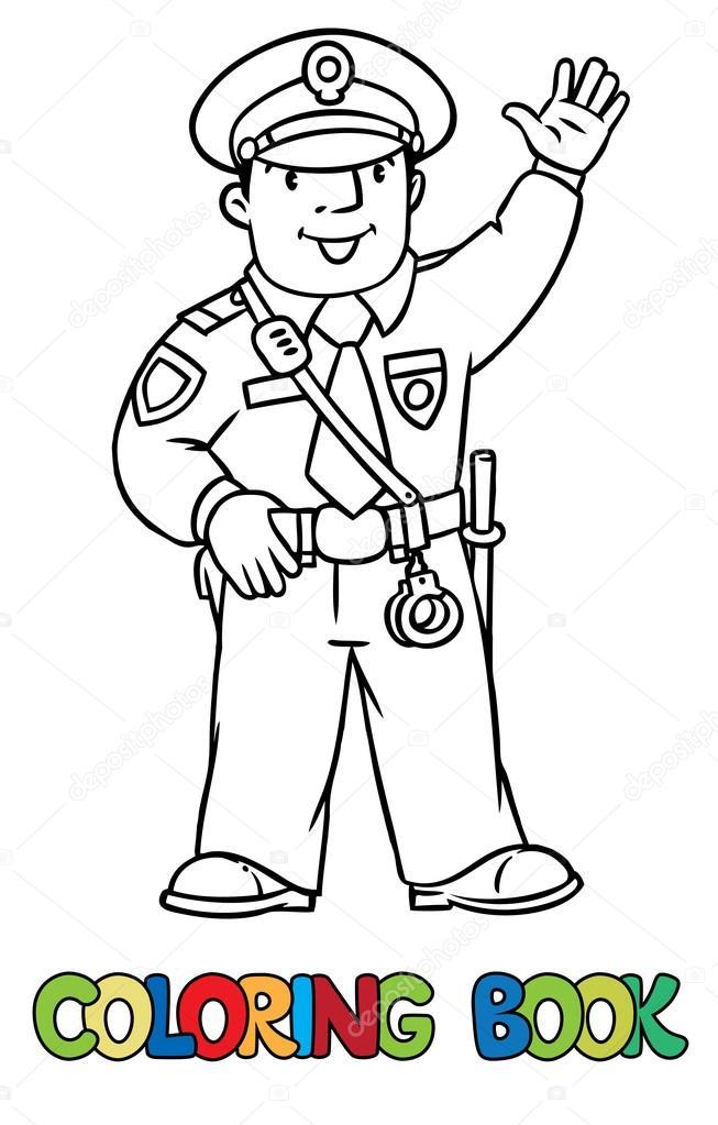 Komik Polis Boyama Kitabı Stok Vektör Passengerz 102589606