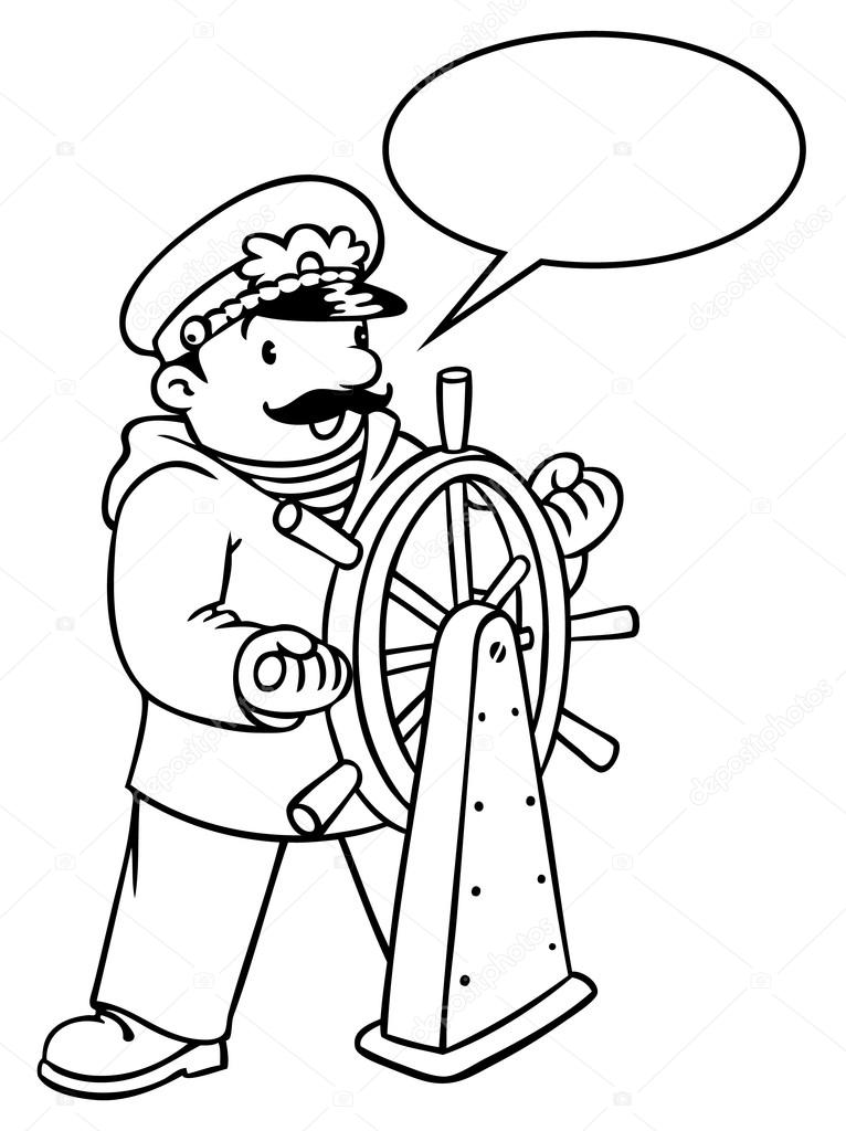 Imágenes: yate para colorear | Divertido capitán o capitán de yate ...