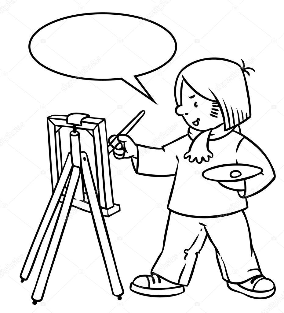 Ressam Şirin boyama kitabı