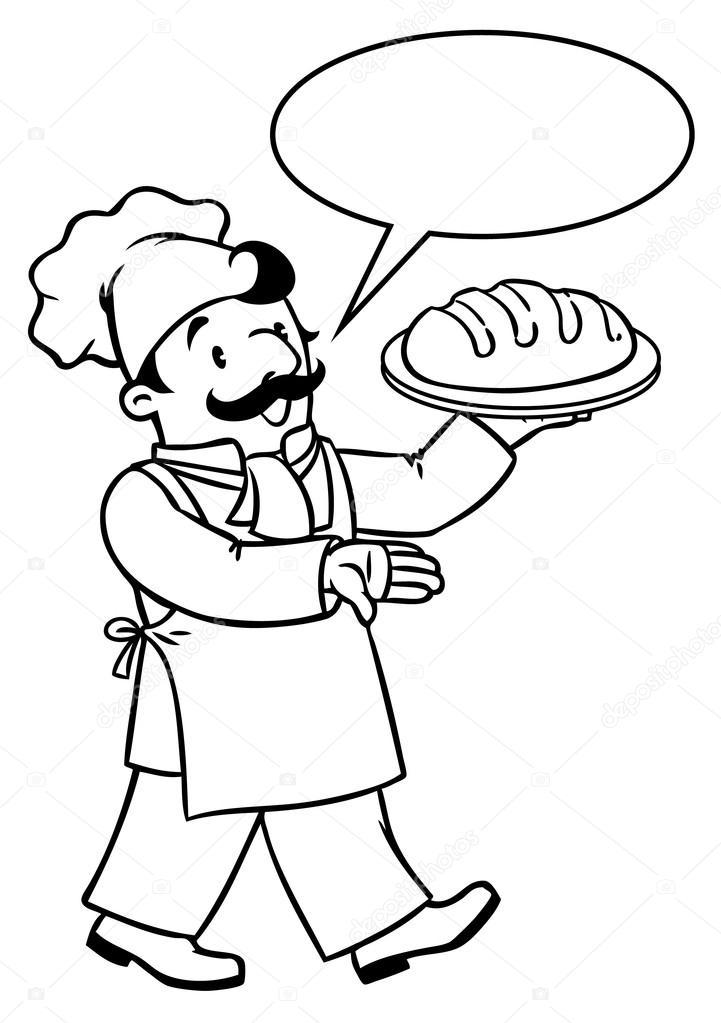 Dibujos: dibujo de cocinero para colorear | Libro de colorear ...