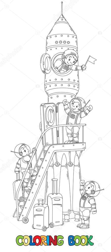 Libro para colorear de rocket y los muchachos-los astronautas ...