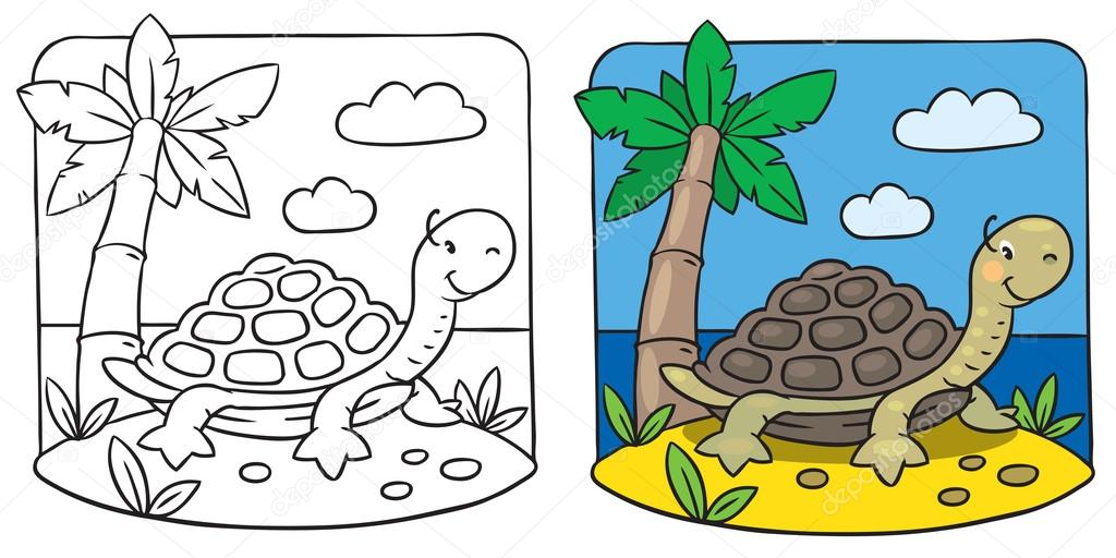 - Little Turtle Coloring Book — Stock Vector © Passengerz #57216187