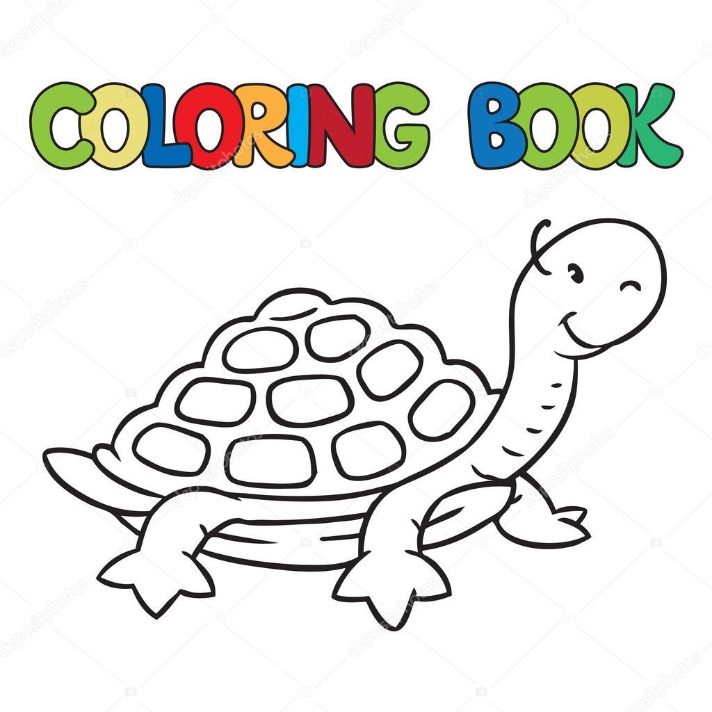 Malbuch für kleine lustige Schildkröte — Stockvektor © passengerz ...