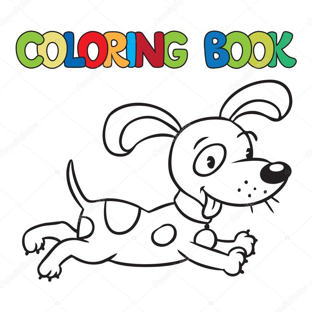 Küçük Köpek Ya Da Köpek Yavrusu Boyama Kitabı Stok Vektör