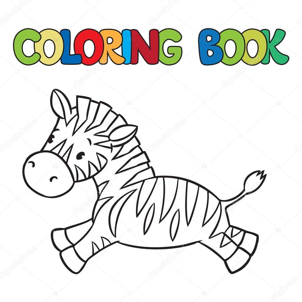 Küçük Zebra Boyama Kitabı Stok Vektör Passengerz 60590945
