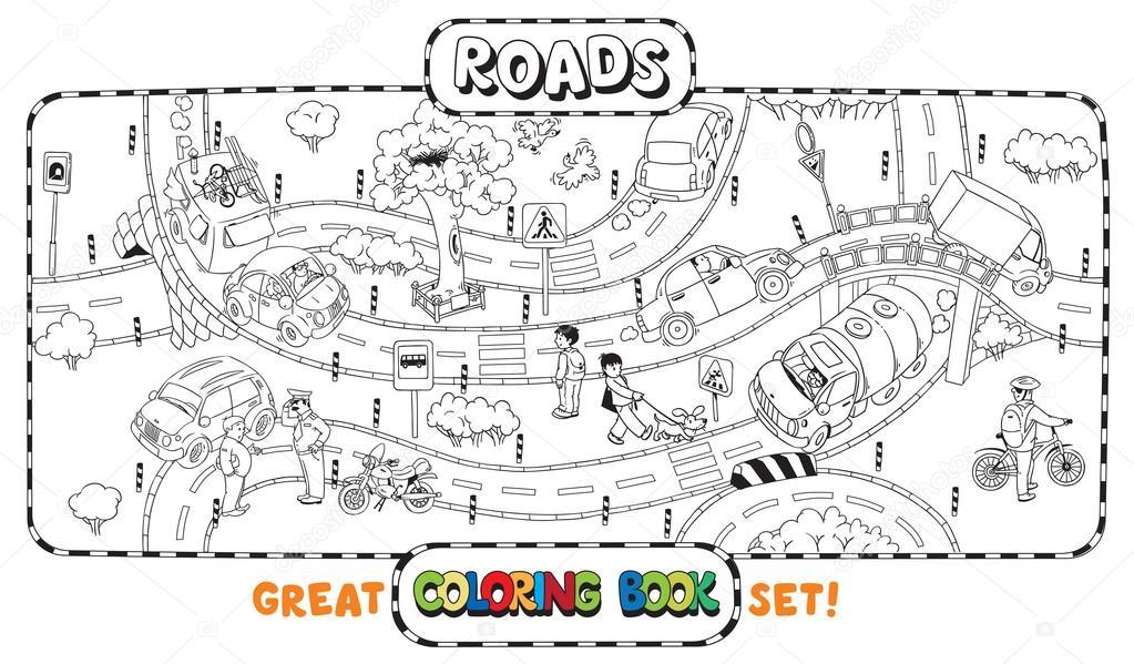 Dibujos: dibujo de carreteras para colorear | Libro de colorear de ...