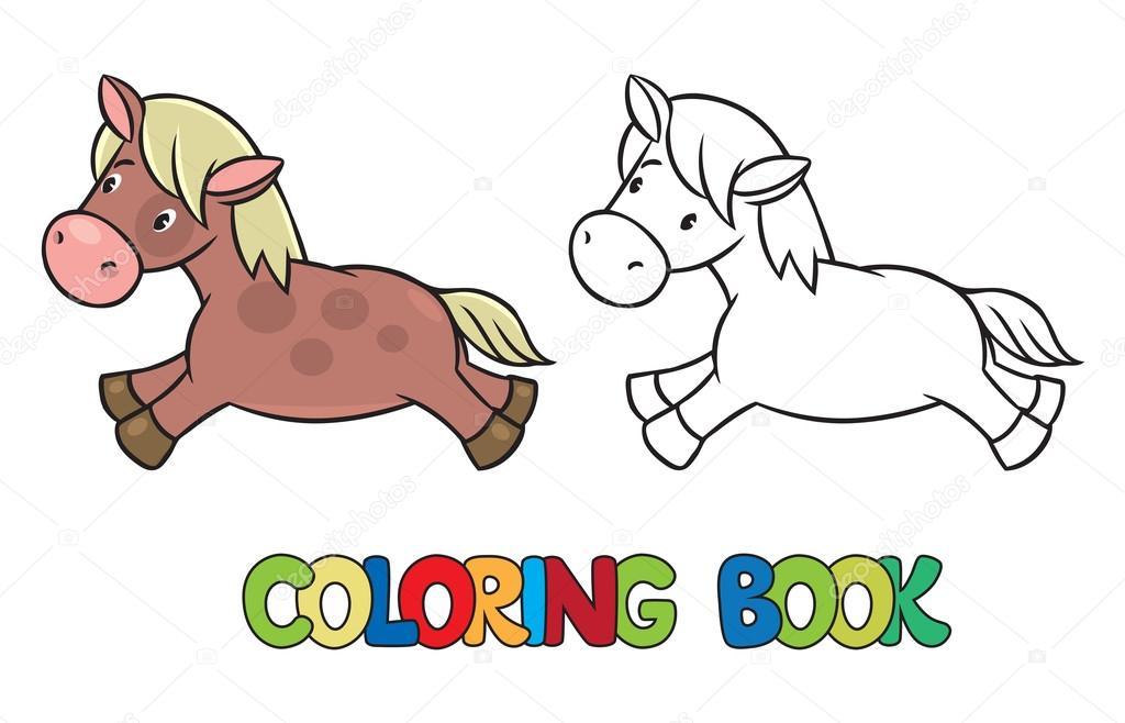 Küçük At Veya Pony Boyama Kitabı Stok Vektör Passengerz 81348388