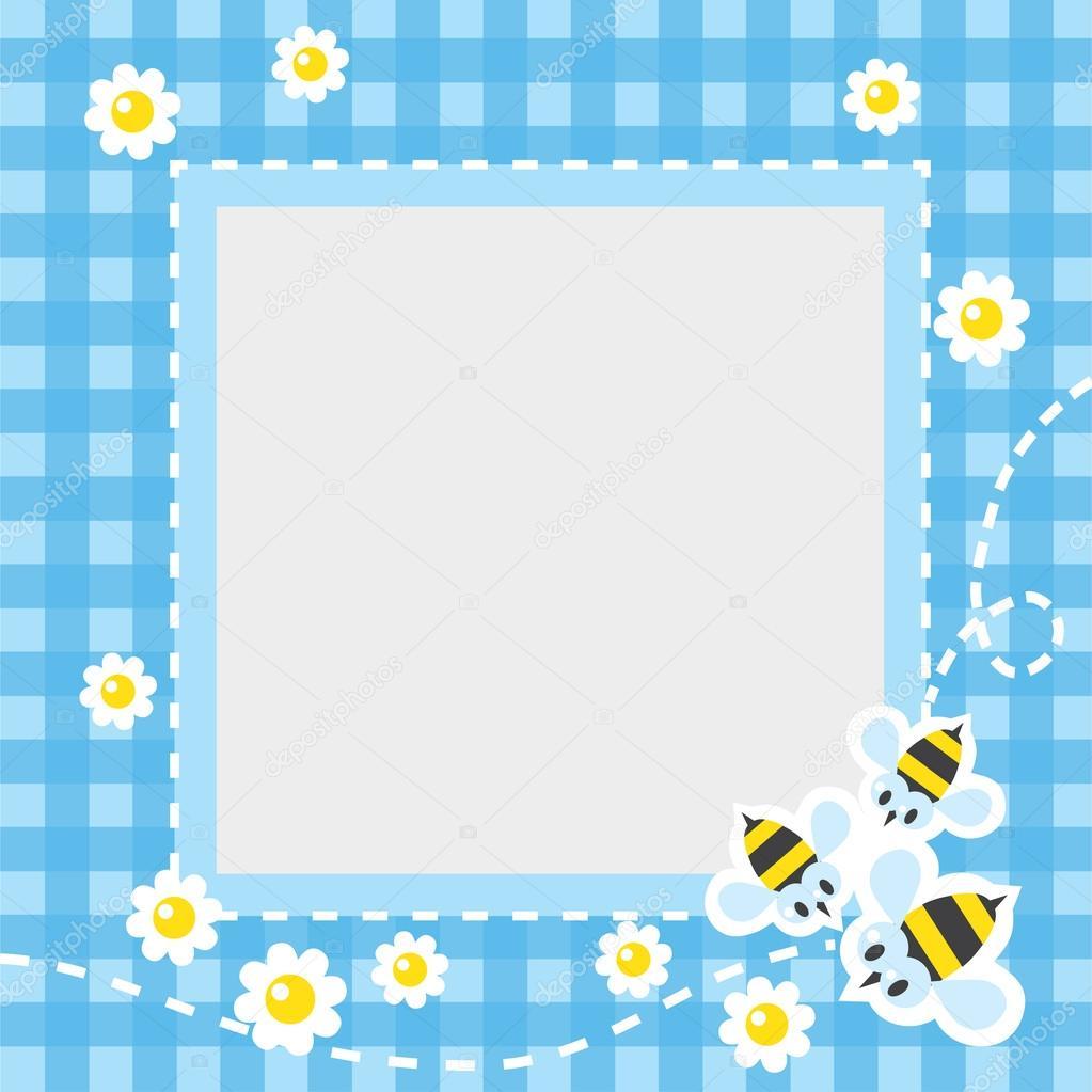 Marco o frontera con abejas divertidas — Vector de stock ...