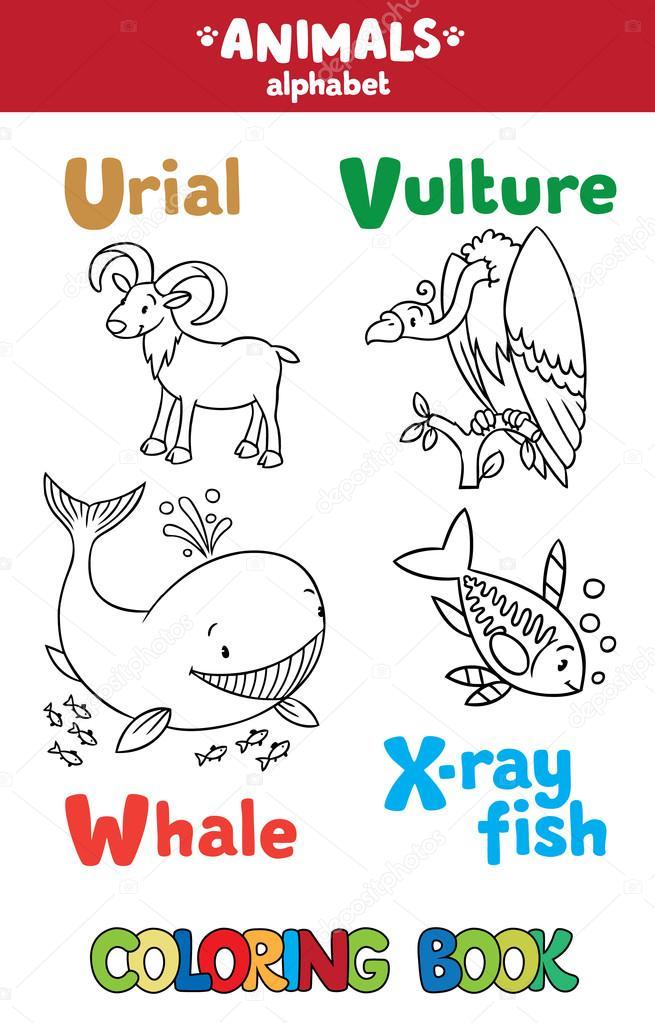Tiere Alphabet oder Abc. Malbuch — Stockvektor © passengerz #91522844