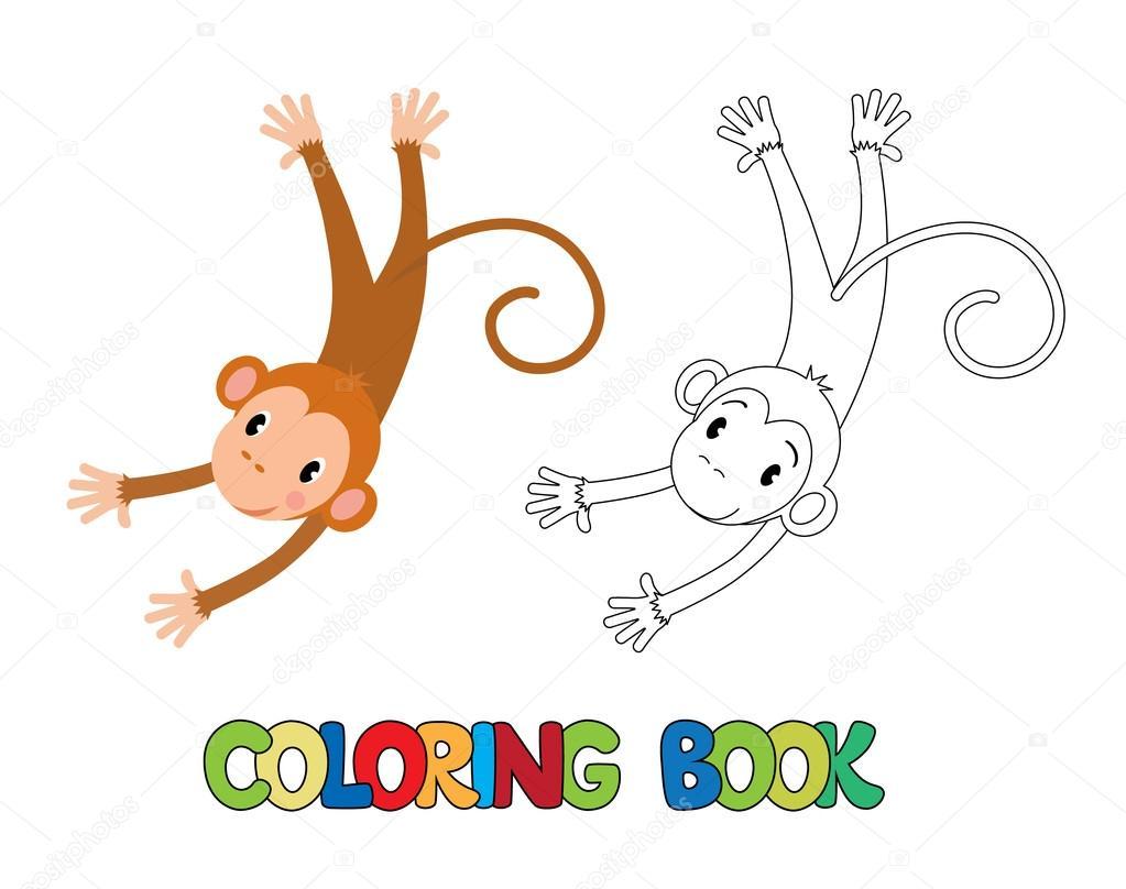 Komik Maymun Boyama Kitabı Stok Vektör Passengerz 92488244