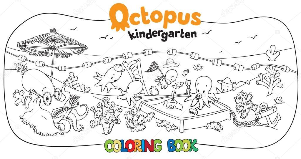 Livre De Coloriage Pieuvre Maternelle Image Vectorielle Passengerz
