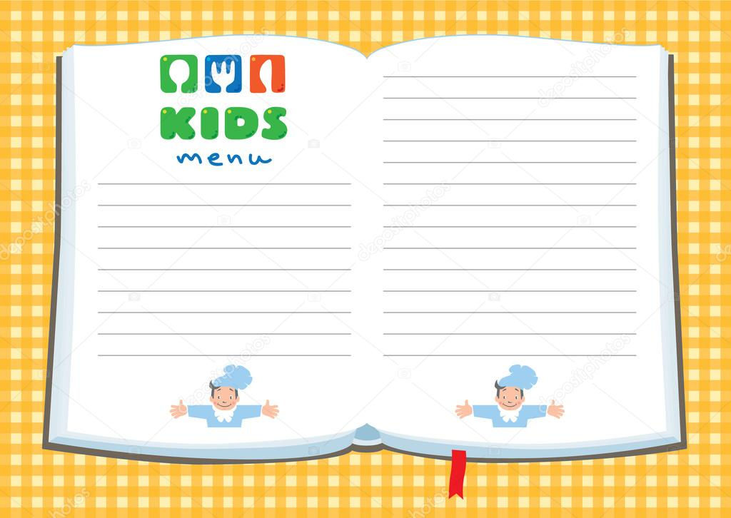 Design template background for kids menu stock vector design template background for kids menu stock vector 95811680 pronofoot35fo Images