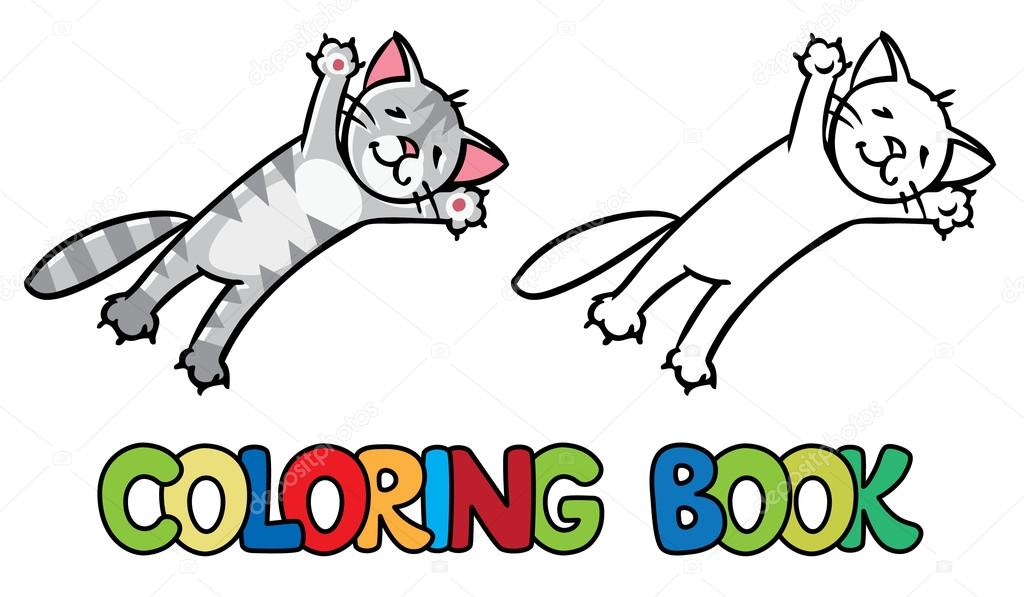Imágenes: saltando para colorear | Saltando o volando gato. Libro ...