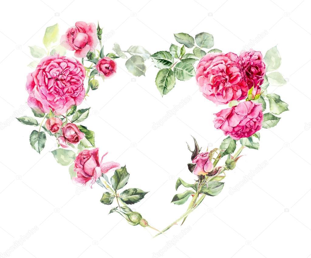 Coeur De Trame De Roses Dessins De Mariage Photographie Budogosh
