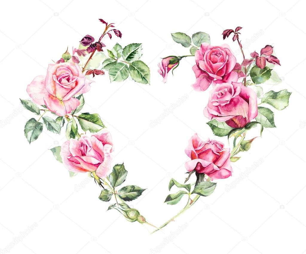 Coeur de trame de roses dessins de mariage photographie budogosh 123358598 - Roses dessins ...