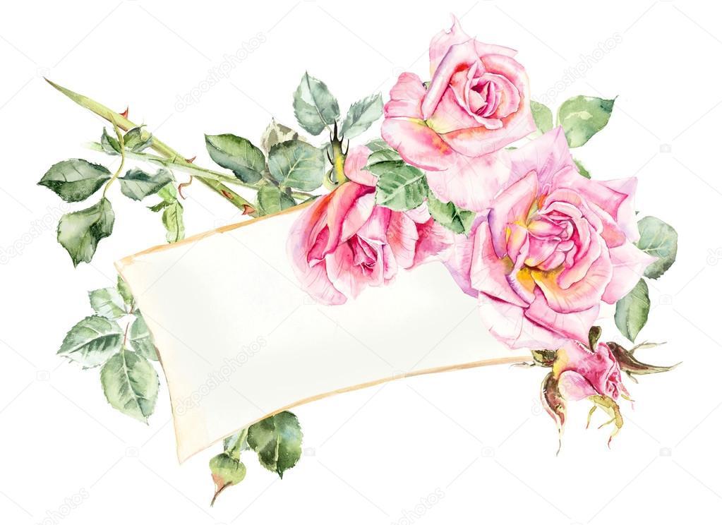 cadre de roses dessins de mariage photographie budogosh 123358946. Black Bedroom Furniture Sets. Home Design Ideas