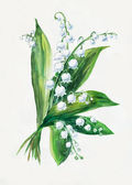 Lily of the valley bouquet.
