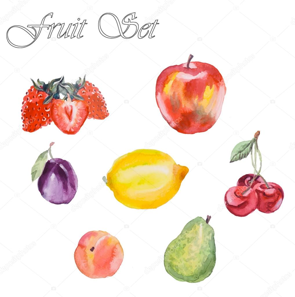 Fruits, healthy food. Fruit backdrop.