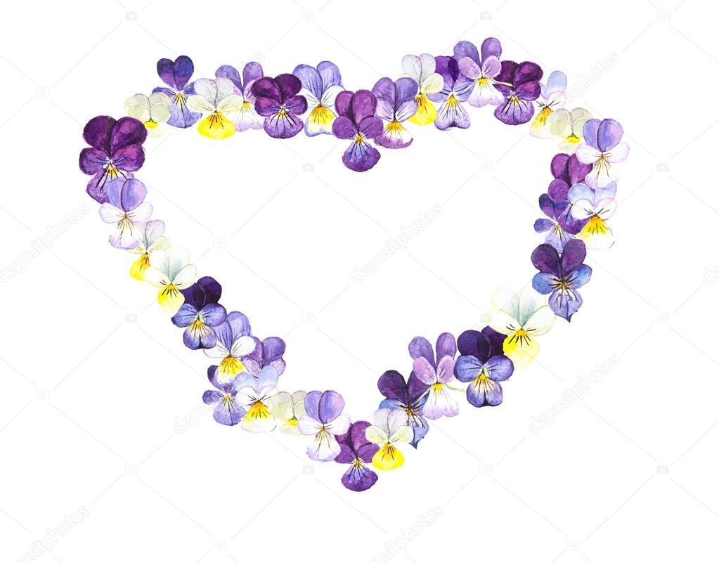 Cadre Coeur De Violette Photographie Budogosh C 83304718