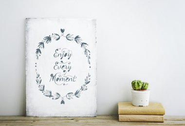 Motivational poster quote ENJOY EVERY MOMENT