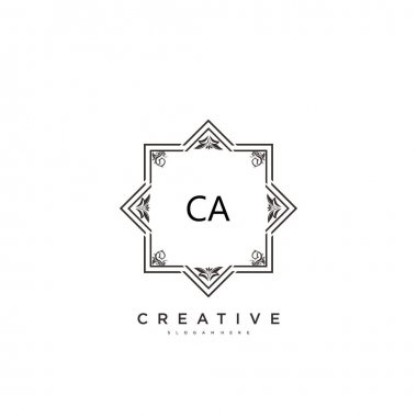 CA Beauty vector initial logo art, handwriting logo of initial signature, wedding, fashion, jewerly, boutique, floral and botanical with creative template for any company or business. icon