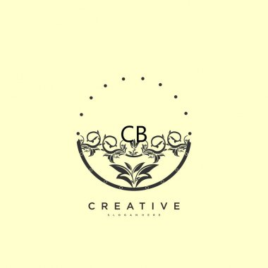 CB Beauty vector initial logo art, handwriting logo of initial signature, wedding, fashion, jewerly, boutique, floral and botanical with creative template for any company or business. icon