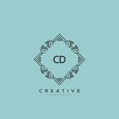 CD Beauty vector initial logo art, handwriting logo of initial signature, wedding, fashion, jewerly, boutique, floral and botanical with creative template for any company or business. icon