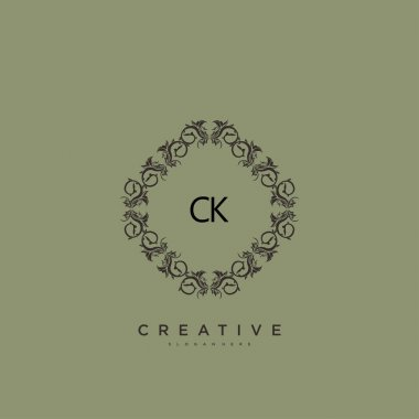 CK Beauty vector initial logo art, handwriting logo of initial signature, wedding, fashion, jewerly, boutique, floral and botanical with creative template for any company or business. icon