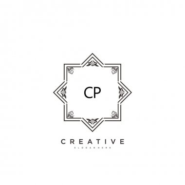 CP Beauty vector initial logo art, handwriting logo of initial signature, wedding, fashion, jewerly, boutique, floral and botanical with creative template for any company or business. icon