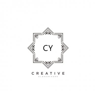 CY Beauty vector initial logo art, handwriting logo of initial signature, wedding, fashion, jewerly, boutique, floral and botanical with creative template for any company or business. icon