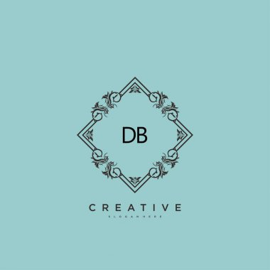 DB Beauty vector initial logo art, handwriting logo of initial signature, wedding, fashion, jewerly, boutique, floral and botanical with creative template for any company or business. icon
