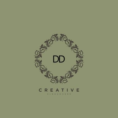 DD Beauty vector initial logo art, handwriting logo of initial signature, wedding, fashion, jewerly, boutique, floral and botanical with creative template for any company or business. icon