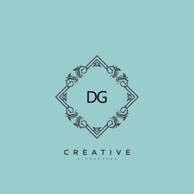 DG Beauty vector initial logo art, handwriting logo of initial signature, wedding, fashion, jewerly, boutique, floral and botanical with creative template for any company or business. icon
