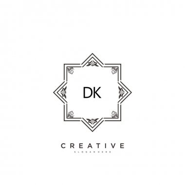 DK Beauty vector initial logo art, handwriting logo of initial signature, wedding, fashion, jewerly, boutique, floral and botanical with creative template for any company or business. icon